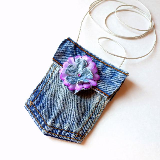 Tiny denim purse