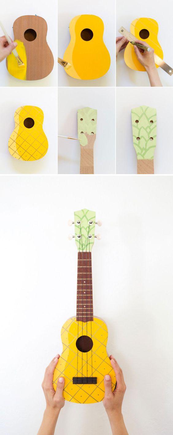 pineapple guitar art