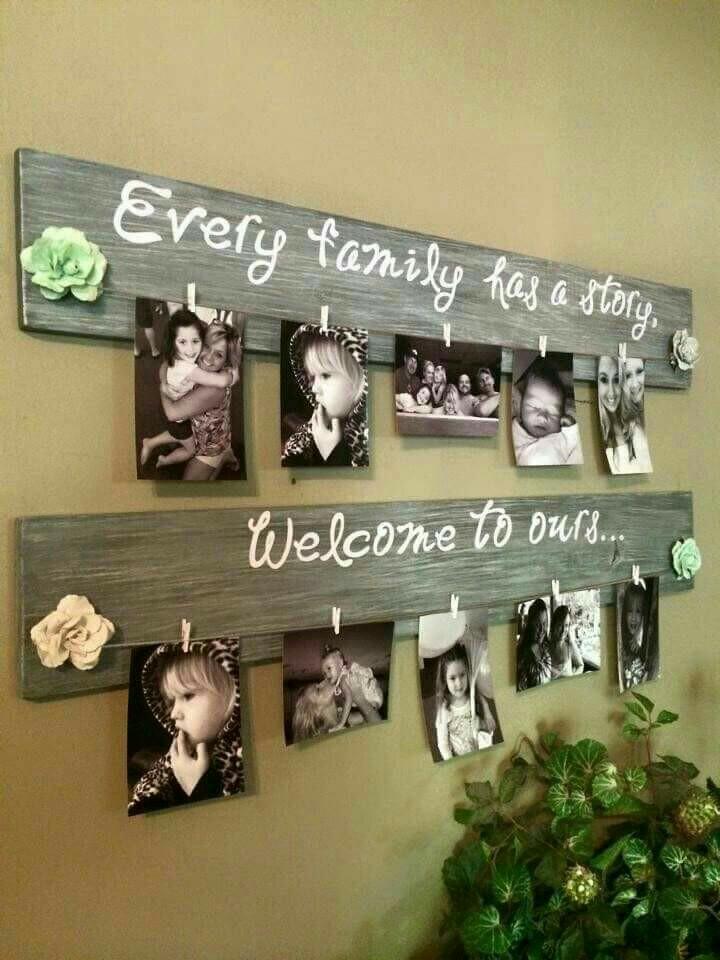 Family Photo Wall Frame - BigDIYIdeas.com