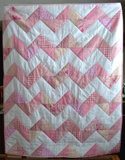 Softie Chevron Minkee Baby Quilt