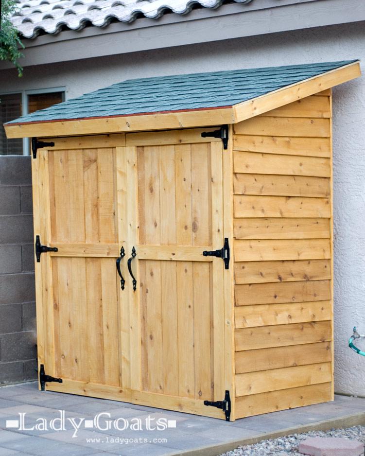 Small Cedar Fence Picket Storage Shed - BigDIYIdeas.com