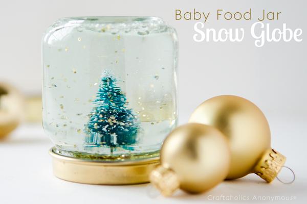 Baby Food Jar Snow Globe