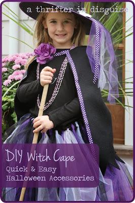 DIY Witch Cape No Sew Fleece