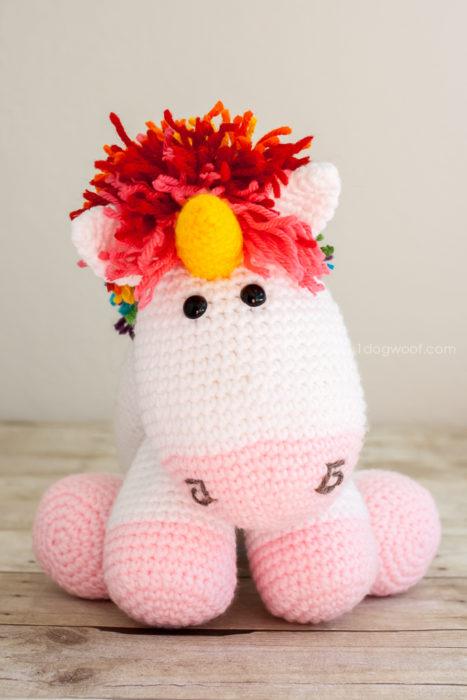 Rainbow Crochet Unicorn Pattern