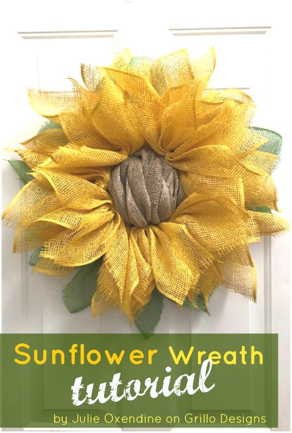 Sunflower Wreath Tutorial