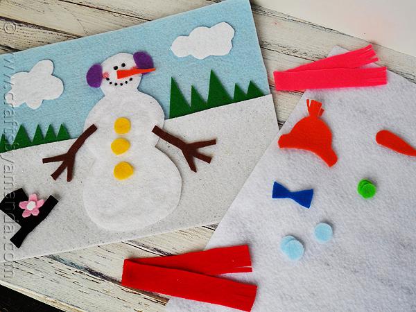snowman-felt-board