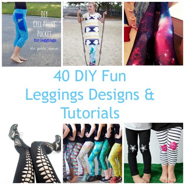 1dd73be3f66b5 40 DIY Fun Leggings Designs & Tutorials