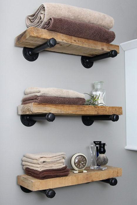 40 diy rustic wood shelves you can build yourself rh bigdiyideas com how to diy rustic shelves how to make rustic shelving