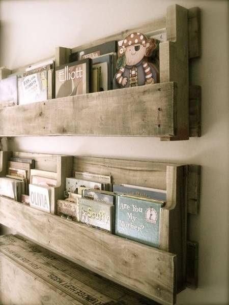 DIY Palette Shelves For Rustic Baby Nursery