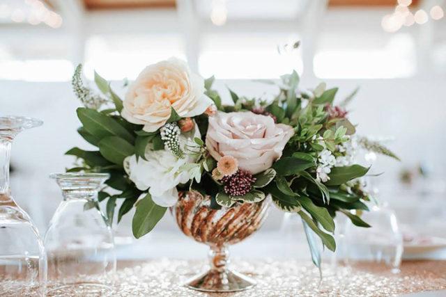 55 wedding centerpieces ideas on a budget sweet blush white peach wedding centerpieces junglespirit Gallery