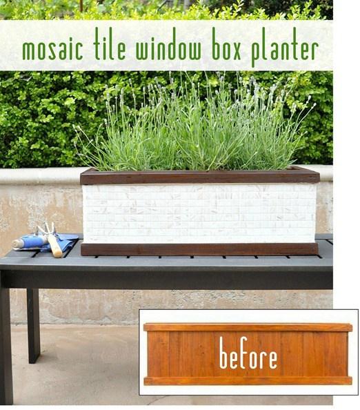Window Box Planter Ideas: 40 DIY Mosaic Design Ideas With Tile, Rocks And Glass