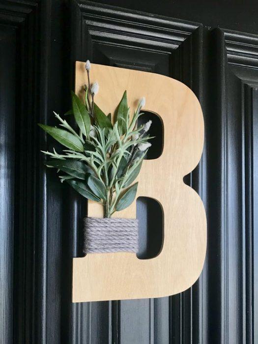 40 Front Door Initial Monogram Ideas