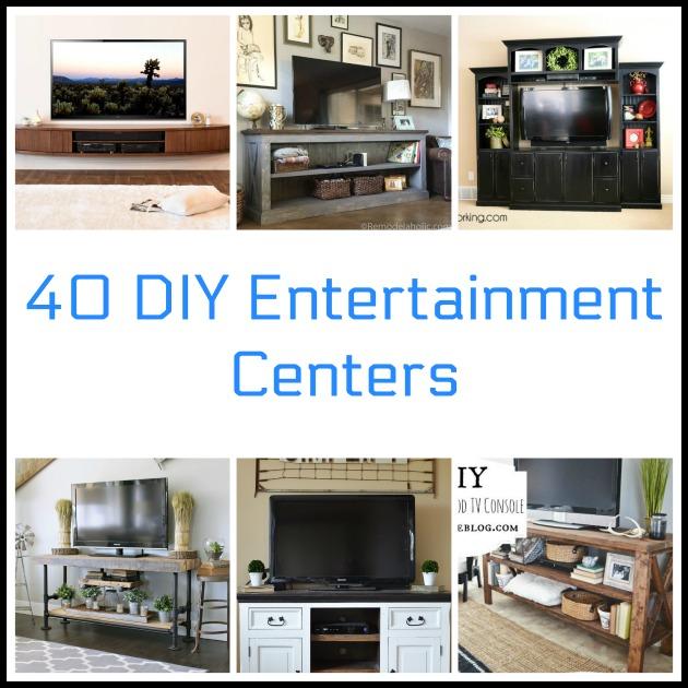 40 diy entertainment centers. Black Bedroom Furniture Sets. Home Design Ideas